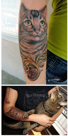 cat tattoo #cat