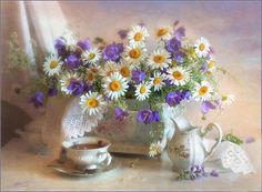 DIY Diamond Painting Cross Stitch kits White Daisies Floral Crystal Needlework Diamond Embroidery Flower Home Decorative Diy Bead Embroidery, Embroidery Kits, Art Floral, Flora Flowers, Flowers Vase, Pretty Flowers, Still Life Art, Cross Paintings, Still Life Photography