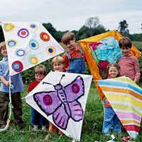 Make & Decorate a Colorful Kite | Easy to make and a blast to decorate, these kites are for fun in the sun.
