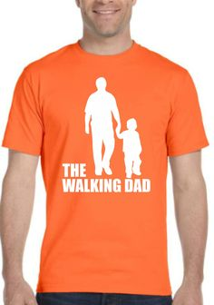 The Walking Dad. Father's Day Mens T-shirt. by SuperTeesandHats on Etsy
