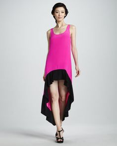 High-Low Colorblock Dress by Jay Godfrey