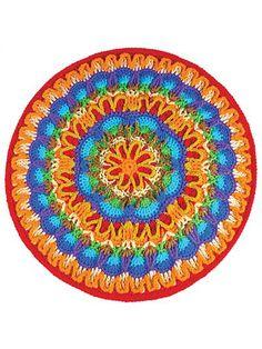 """mandala"" Overlay crochet."