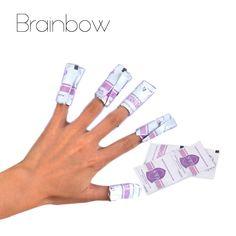 Brainbow 30 Unid Toallitas Removedor de Esmalte de Uñas de Gel UV Laca de Uñas de Arte Gel de la Laca de Uñas Fácil Removedor Foil Wraps Nail Care Tool No caja