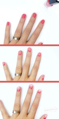 DIY Ombre Nail Art steps