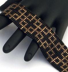 Quadratische Masche Perlen Armband kleinen Pfaden von NeatBeading