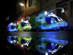 glowing angler fish bicycles by group d collective
