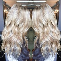 Summer blonde beach waves warm and cool blonde tones