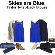 Taylor Twist-Back Blouse by hanger731x on Polyvore. LOVE this blouse!