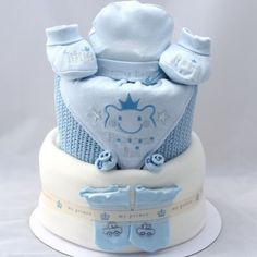 Luxury 3 Tier 'Little Prince' Nappy Cake #royalbaby #gifts #friends