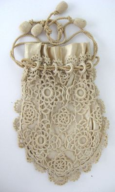 Stunning lace reticule (what the Victorians used before 'the purse' like we know today)