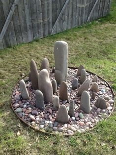 Circle of stones garden decoration gardens gardening gardenideas gardeningtips decorhomeideas rock collection complete for catherine and max rocks rocksaboxin clay color ceramics itsaprocess lostinthedetail handmade Diy Garden Projects, Garden Crafts, Craft Projects, Project Ideas, Yard Art, Garden Stones, Rock Garden Art, Garden Fun, Pebble Art