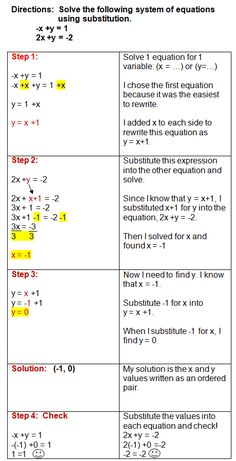 Fine Using the Substitution Method to Solve Systems of Equations for Solving Systems Of Equations Worksheet Ged Math, Systems Of Equations, Solving Equations, College Math, Maths Solutions, Maths Algebra, Calculus, Math Notes, Math Formulas
