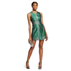 Target Renn Jacqaurd A-line Dress Green $79.99