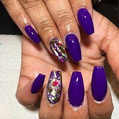 #splatternails #purplenails #coffinnails #bgdn #blackgirlsdonails