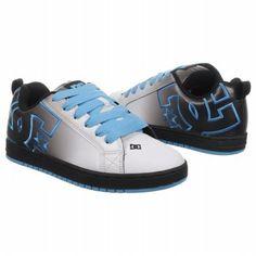 Athletics DC Shoes Men\'s Court Graffik White/ Blue/ Fade