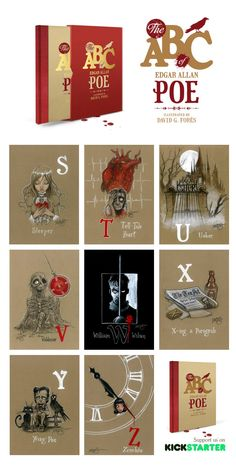 avid G. Forés interpretation of Edgar Allan Poe character's in a deluxe & limited high quality art book.