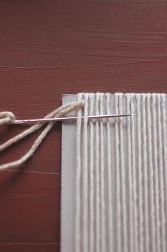 the yarn underneath the strings of the loom Loom Craft, Free People Blog, Textiles, Loom Weaving, Weaving Techniques, Loom Knitting, Textile Art, Woven Fabric, Fiber Art