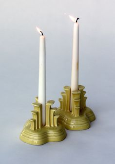 Fiestaware candle holders