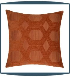 Protocal Decorative Pillows in Persimmon by Michael Amini