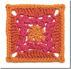 I have a special surprise for you today!! I received permission from the publishers of Edie Eckman's Beyond the Square: Crochet Motifs to share this awesome crochet motif pattern with you. This is definitely one of my favorites. After working one up for the book review I fell in love with it and decided to make a few more to make this pretty tea mat for my grandma's birthday.