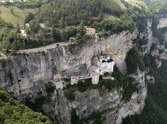 Santuario Madonna della Corona. Church in Italy, Europe