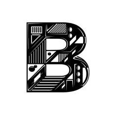 #B by @d.okuart by 36daysoftype