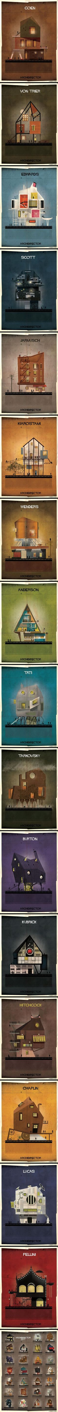 This Artist Imagines Architecture in the Film Style of Famous Directors