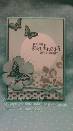 Stampin' Up! Kinda Eclectic & Papillon Potpourri, Blendabilities & Brayer