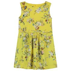 Webshop bengh, borxz and vandriestmob, dutch fashionbrands for boys, girls and women Little Girl Dresses, Little Girls, Girls Dresses, Summer Dresses, Bright Yellow, Yellow Flowers, Baby Dolls, Kids Fashion, Boys