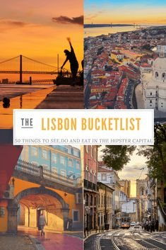 Lisbon Bucketlist : 50 things to do in Lisbon - Stef's Journey After spending 3 months in Lisbon as an intern, I'm sharing with you the ultimate bucket list with 50 things to do in Lisbon on and off…More Backpacking Europe, Europe Travel Tips, European Travel, Portugal Vacation, Portugal Travel Guide, Portugal Trip, Best Beaches In Portugal, Visit Portugal, Spain And Portugal
