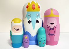 Adventure Time Russian Dolls!--- things I need immediately but actually don't need at all