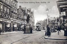 Postcards of the Past - Vintage Postcards of Reading, Berkshire Old Pictures, Old Photos, History Of Reading, Reading Berkshire, Vintage Photographs, Vintage Postcards, The Past, England, Street View