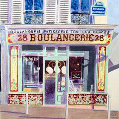 """Boulangerie"" by Glynn Boyd-Harte (lithograph)"