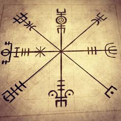 """Møðiríkr"" - Galdrastafir with purpose of strengthening maternal vigor, clarity and femininity. Esoteric Symbols, Rune Symbols, Magic Symbols, Vikings, Et Tattoo, Viking Tattoos, Norse Tattoo, Viking Art, Viking Life"