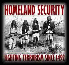 Shop Native American Homeland Security T-Shirts. Buy custom Native American Homeland Security T-Shirts Native American Genocide, Native American Wisdom, Native American History, American Indians, Native American T Shirts, Indiana, Into The West, By Any Means Necessary, Les Religions