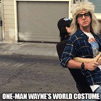 Wayne's World - One Man Costume - This is great!