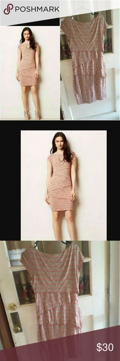 Bailey 44 sorrell anthropologie collum dress Stripped cap sleeve bandage style dress grate for work or play 36 inches from shoulder to bottom of dress Anthropologie Dresses Midi