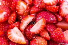 Background of #sliced #strawberries