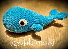 Szydłaki Cudaki - Amigurumi - Handmade with love: Amigurumi wieloryb - amigurumi whale Crocheted Jellyfish, Whale, Crochet Toys, Dinosaur Stuffed Animal, Barbie, Animals, Dogs, Whales, Animales