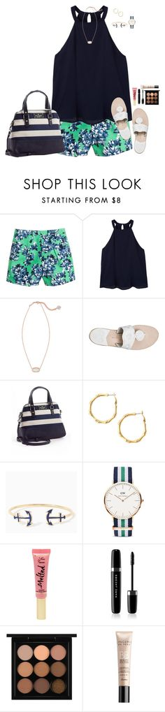 """Summa Time"" by sc-prep-girl on Polyvore featuring J.Crew, MANGO, Kendra Scott, Jack Rogers, Kate Spade, Daniel Wellington, Too Faced Cosmetics, Marc Jacobs, MAC Cosmetics and Guerlain"