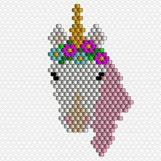 Merci pour l'accueil fait à ma licorne! Voici le diagramme si vous avez envie de vous amusez.  Et comme on m'a posé la question, oui, je vends les licornes, les petites en boucles d'oreilles et la grande en broche !  bon dimanche ! #jenfiledesperlesetjassume #diagrammeperles #diagram #unicornpower #unicorn #licorne #brickstitch #motifpauline_eline #brooch #brooch #miyukibeads #miyuki #perleaddict #perles