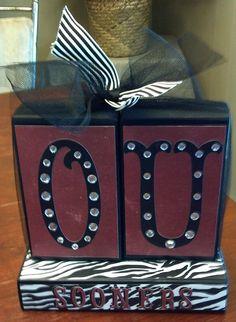 OU University of Oklahoma Sooners 2x4 Block Set,