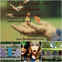 A llegado el Otoño a Family Melon y lo queremos celebrar con un 15 %de descuento en todos nuestros productos  de nueva colección y aún mas Envio Gratis toda España! No te quedes sin tu complemento de moda y con aroma a felicidad #newcollection #enviogratis #moda #autumn #otoño2014 #complementos #shoponline #scentedproducts #regalo #wallet #ipad #woman #men #unisex #handmade #familymelon #love ❤