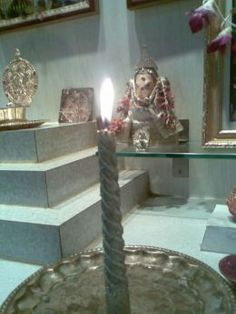 Silver Candle Ritual For Lord Ganesh