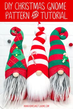 DIY Home Sweet Gnome Pattern & Tutorial – NO ADD-ONS INCLUDED DIY Christmas Gnome Pattern & Tutorial. Learn how to make your own gnomes with our gnome making tutorial or grab a DIY gnome making kit from www. Scandinavian Gnomes, Scandinavian Christmas, Gnome Tutorial, Gnome Hat, Sewing Hacks, Sewing Tips, Christmas Gnome, Craft Night, Diy Weihnachten