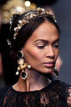 Joan Smalls, Dolce and Gabbana f/w 12/13