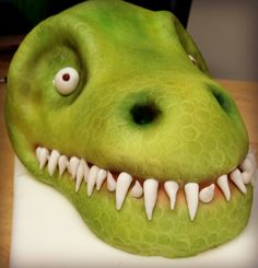 T-Rex Cake Tutorial - So You Think You're Crafty