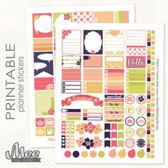 Printable planner stickers FlowersErin Condren by MeeDigiScrap