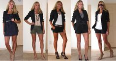 How to wear a black blazer during the summer and spring