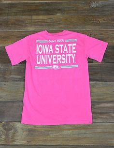 Show your Iowa State love in this fun Comfort Colors ISU t-shirt. Wear it around campus or to watch for favorite team play. Go Cyclones!